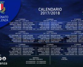 calendario eccellenza rugby 2017-2018