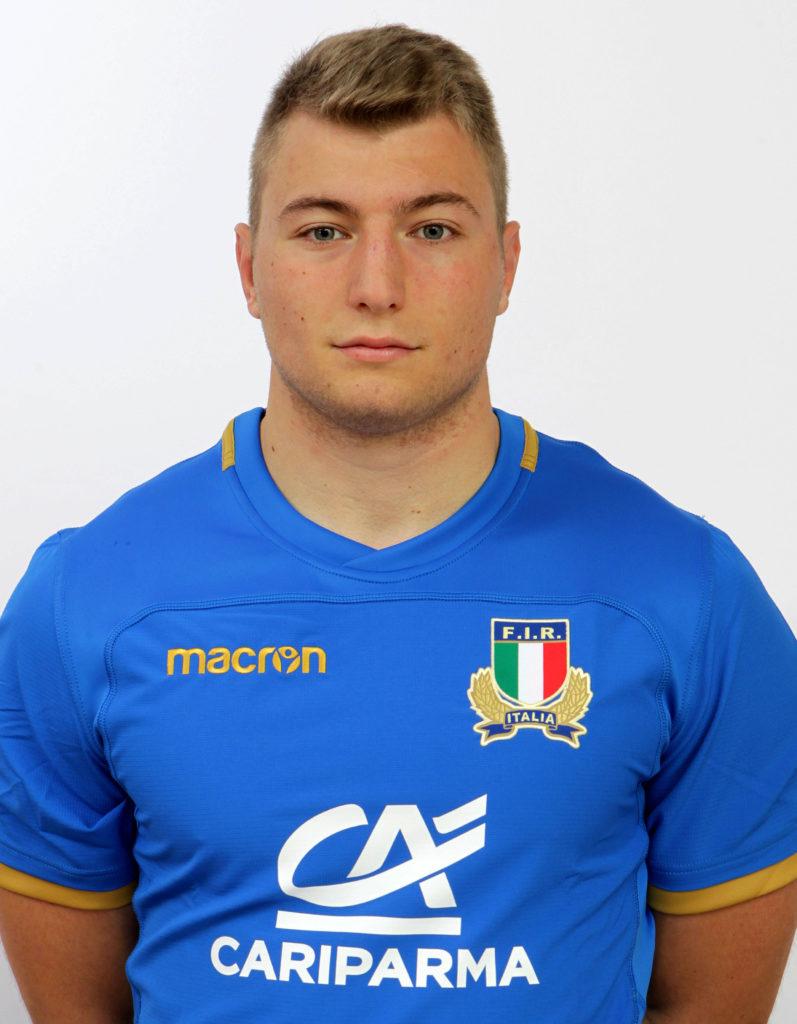 Raduno Nazionale U20, Roma, centro Coni Giulio Onesti 05/12/2017, profili individuali di atleti e staff, Lodovico MANNI (Mogliano Rugby).