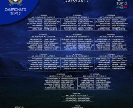 Calendario TOP12 18-19