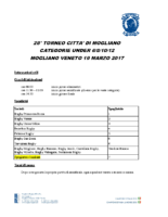 Informazioni Generali 28Torneo Città di Mogliano