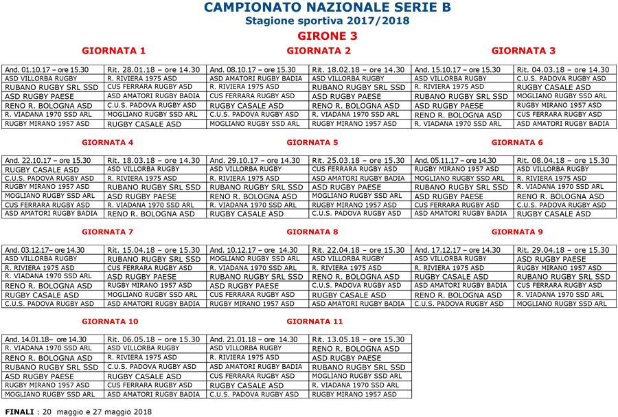 Calendario Serie A 15 Ottobre.Ufficializzato Il Calendario Di Serie B 2017 18 Mogliano