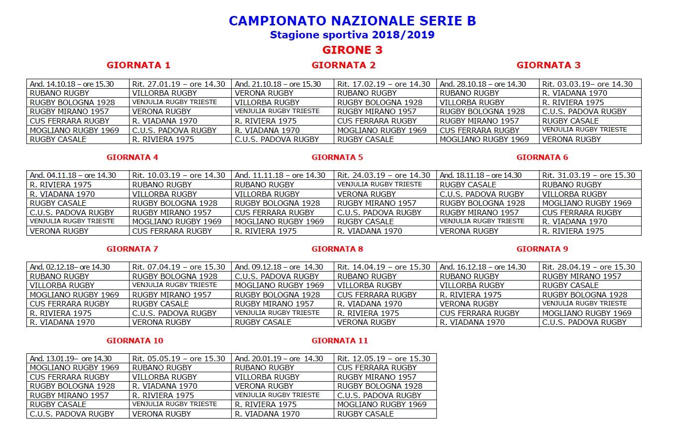 Calendario Di Serie B.Il Calendario Della Serie B Girone 3 2018 2019